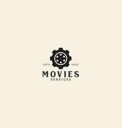 Cinema movie gear services logo symbol icon vector