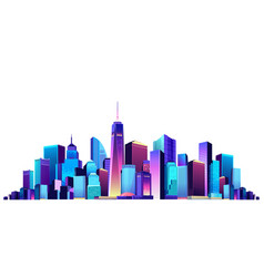 Cityscape on white background vector