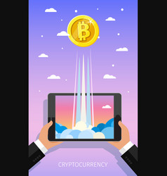 concept crypto-currency vector image