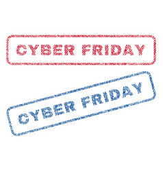 Cyber friday textile stamps vector