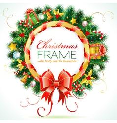 decorative christmas wreath vector image