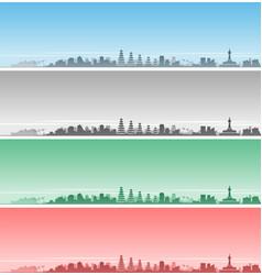 denpasar skyline event banner vector image