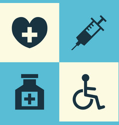 Drug icons set collection of disabled painkiller vector