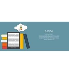 E-Book Flat computing vector image