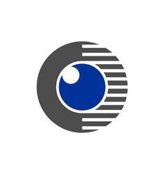 eye vision logo icon concept design vector image