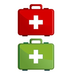First aid kit case vector image