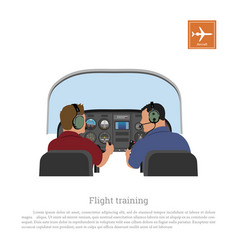 Flight training cabin aircraft vector