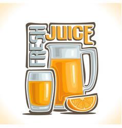 Fresh orange juice vector