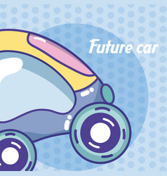 future car vehicle concept vector image