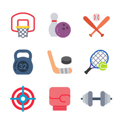 games and sport colored trendy icon pack 2 vector image