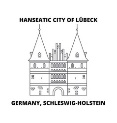 Germany schleswig-holstein hanseatic city of vector