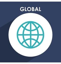 Global icon vector