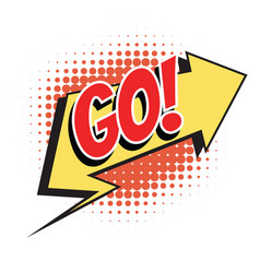 go comic word vector image