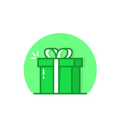 green linear reward simple logo vector image
