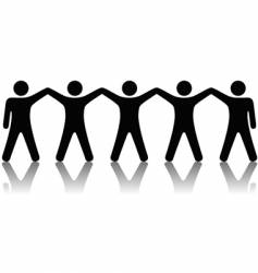 group people celebrate teamwork vector image