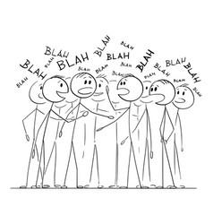 Group people or crowd is talking speaking vector