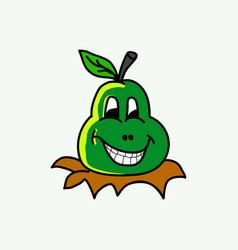 happy fruit cartoon vector image