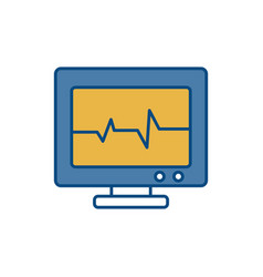 Heart cardio monitor icon vector