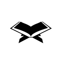 Holy book quran icon design template isolated vector