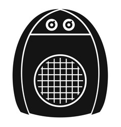 home heater fan icon simple style vector image