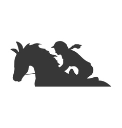horse animal ridding silhouette sport hobby icon vector image