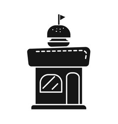 Isolated object kiosk and burger symbol set of vector