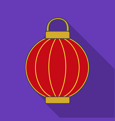 Korean lantern icon in flate style isolated on vector