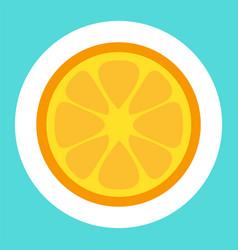 lemon cartoon sticker vector image
