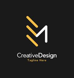 letter em creative business logo vector image