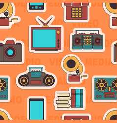 many functions carries a modern mobile phone vector image