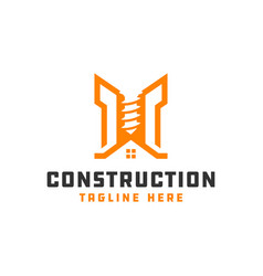 modern building construction logo vector image