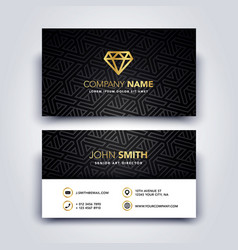 Modern dark and clean business card template vector