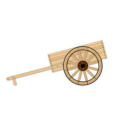 Mormon hand cart vector