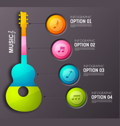 Music abstract infographics vector
