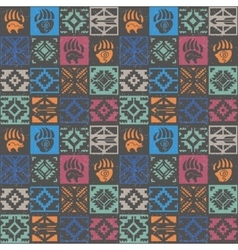 Navajo seamless colorful tribal pattern vector