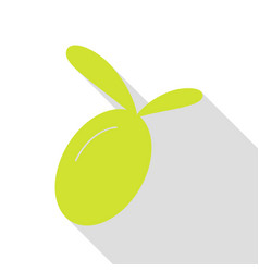 olive sign pear icon with flat style vector image