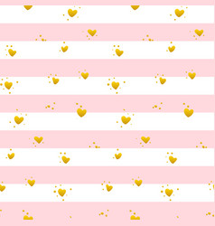 Pink gold striped seamless pattern vector