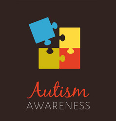 Poster for world autism awareness day with color vector