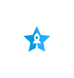 rocket star logo icon design vector image
