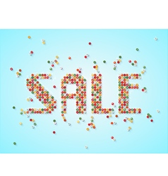 Sale scattered beads tag vector image