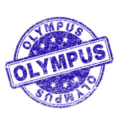 Scratched textured olympus stamp seal vector