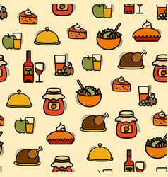 Seamless thanksgiving pattern vector