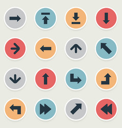 Set of 16 simple pointer icons can be found such vector