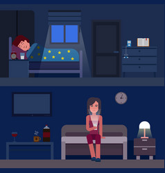 sleep time infographics flat vector image