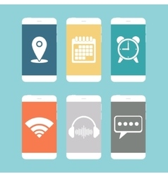 Smartphones flat icon vector
