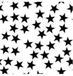 star seamless pattern night space or christmas vector image