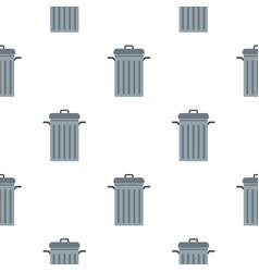 steel bin pattern seamless vector image