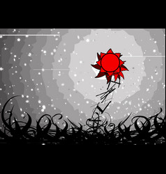 Storm sunflower vector