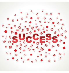 Success word with in alphabets vector image