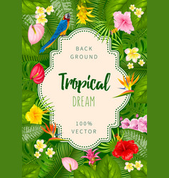 Summer tropical background design vector